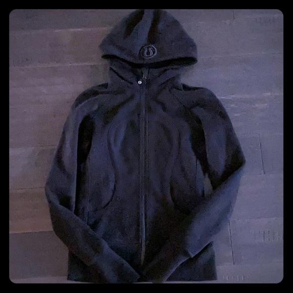 lululemon athletica Other - Lululemon Black Scuba Zip Hoodie sz6
